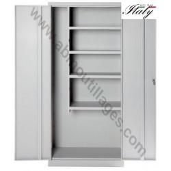 Armoire métallique multifonction deux portes 100 x 40 x 180