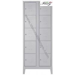 Armoire casiers 10 portes 70 x 50 x 182