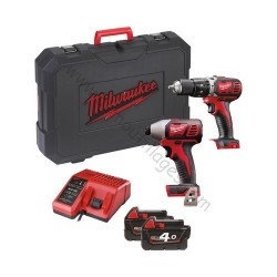 Milwaukee Pack 2 outils M18 BPP2C-402C