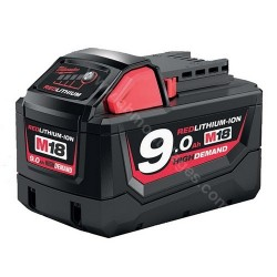 Milwaukee batterie M18 B9 9.0 Ah Li-Ion