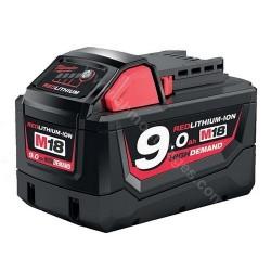 Milwaukee batterie M18 B9 9.0 Ah Li-Ion