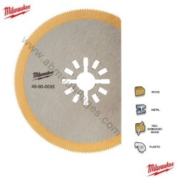 Milwaukee lame Titane diamètre 80 pour Multi-tool