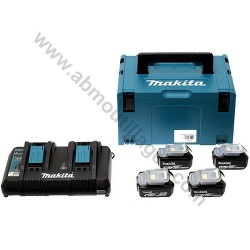 Makita pack énergie 4 batteries 18V 4.0Ah et chargeur