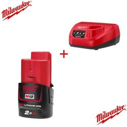 Milwaukee pack chargeur et batterie M12-NRG-201