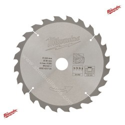 Milwaukee lame carbure 24 dents diamètre 235mm