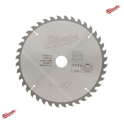 Milwaukee lame carbure 40 dents diamètre 235mm