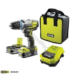 Ryobi perceuse / visseuse à percussion Brushless R18PDBL-LL25S