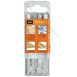 AEG set de 12 lames de scie sauteuse