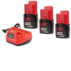 Milwaukee pack batteries et chargeur M12