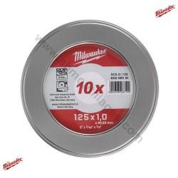 Boites de 10 disques à tronçonner 125mm