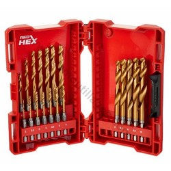 Milwaukee coffret de 19 forets métaux HSS-G-RED HEX