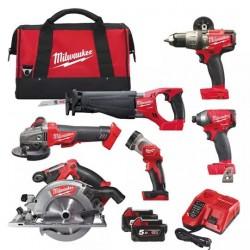 Milwaukee Powerpack de 6 outils M18 FPP6C2-502B