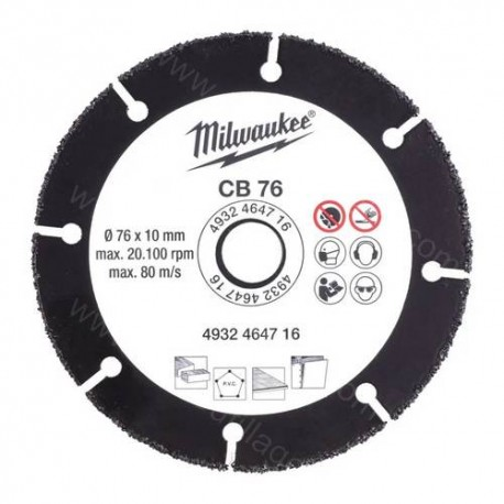 Milwaukee disque carbure 76 mm