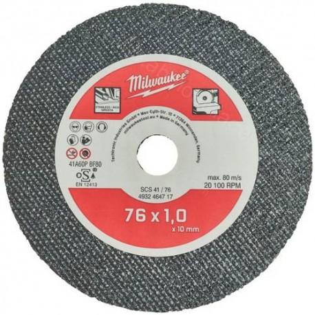 Milwaukee disque à tronçonner SCS 41 / 76 mm