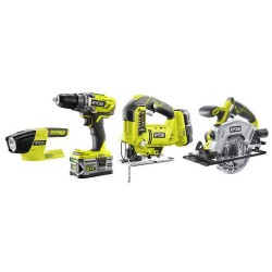 Ryobi COMBO KIT 4 OUTILS 18V ONE+R18CK4A-252S