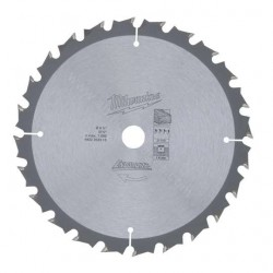 Milwaukee Lame de scie circulaires 24 dents 165 mm