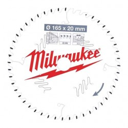 Milwaukee lame de scie 24 dents diamètre 165 mm