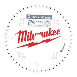 Milwaukee lame de scie 52 dents diamètre 165 mm