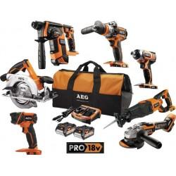 AEG pack 7 outils bois 18 volt JP18B6-502B