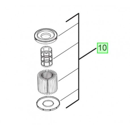 Filtre pour aspirateur Milwaukee M18 VC2-0