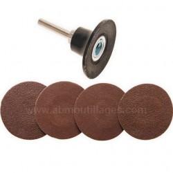 Jeu de disques plateaux abrasifs diamètre 50 mm