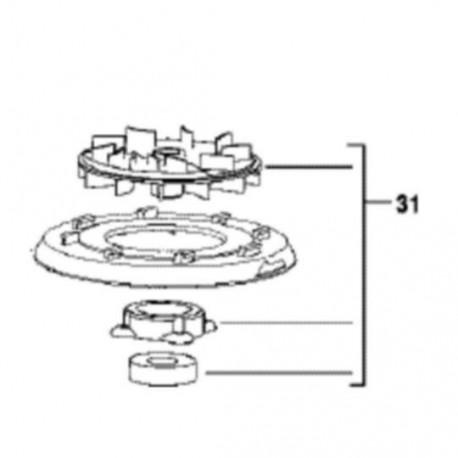 AEG Ventilateur pour ponceuse EX125 ES
