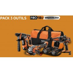 AEG pack 3 outils 18 volt