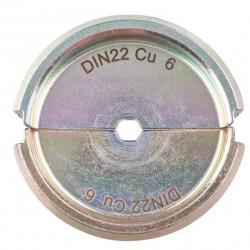 Mâchoire pour sertisseuse de manchons ou cosses cuivre DIN 46267