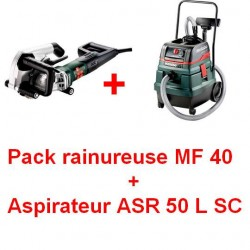 Metabo pack rainureuse MF40 plus aspirateur ASR 50 L SC