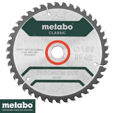 Metabo Lame de scie précision cut wood classic 42 dents