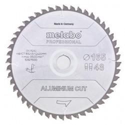 METABO Lame de scie pour couper l'aluminium 48 dents