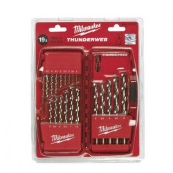 Milwaukee Coffret 19 forets métaux thunderweb (HSS-G) DIN 338