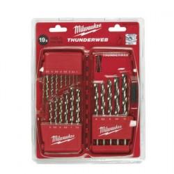 Coffrets forets métaux thunderweb (HSS-G) DIN 338 - 19 pièces