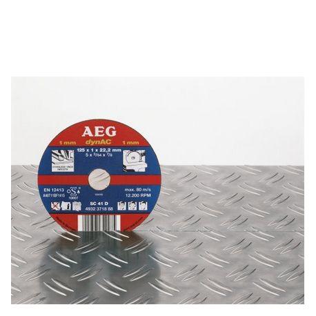AEG 50 disques à tronçonner fin 115mm