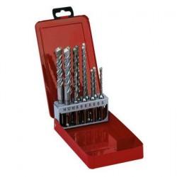 AEG coffret métal Jeu de 10 forets 2 taillants SDS-PLUS