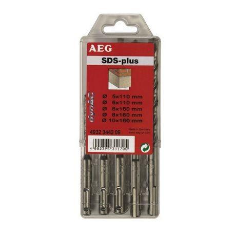 AEG coffret plastique Jeu de 5 forets 2 taillants SDS-PLUS