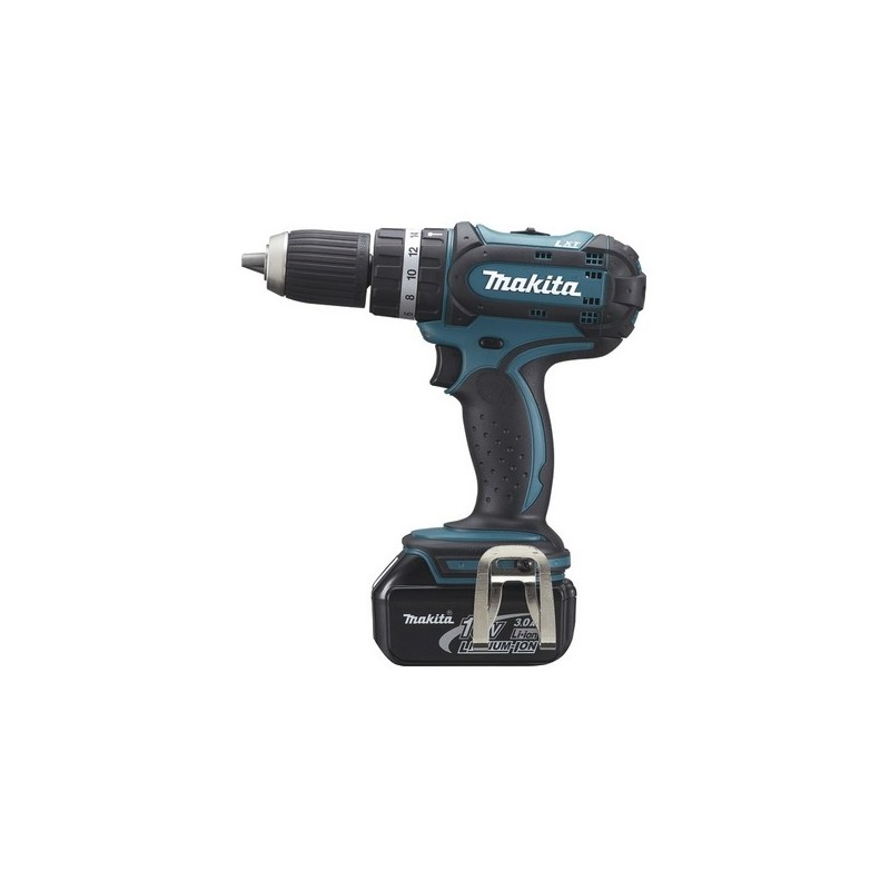 Makita perceuse visseuse percussion 18v bhp452rfe - Visseuse makita 18v ...