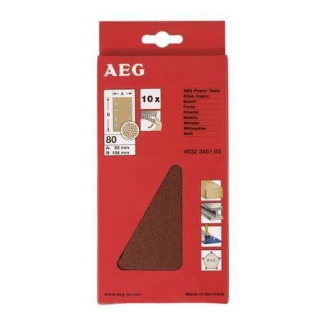 AEG Papier Abrasif fixation velcro 80x133 mm
