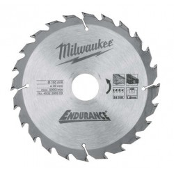 Milwaukee lame de scie circulaire 24 dents 165mm