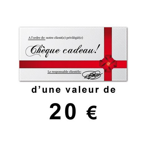 Chèque cadeaux outillage de 20€