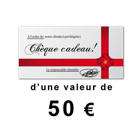 Chèque cadeaux outillage de 50€