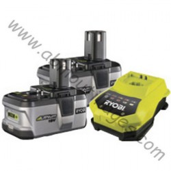 RYOBI BLK18202 2 batteries Lithium-Ion 18 V (2,4 Ah) + super chargeur