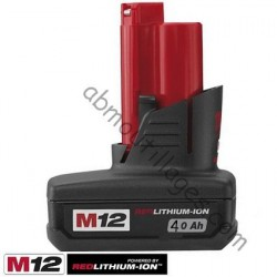 Milwaukee batterie M12 - 12V / 4.0 Ah Li-Ion