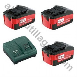METABO PACK BATTERIES CHARGEUR 4.0 Ah