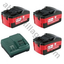 METABO PACK BATTERIES CHARGEUR 5.2 Ah