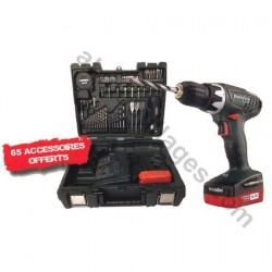 60211688, METABO Perceuse / Visseuse sans fil + coffret 65 accessoires