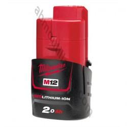 Milwaukee batterie M12B2 - 12V / 2.0Ah Li-Ion