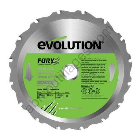 Evolution lame multi-usages FURY 185 mm