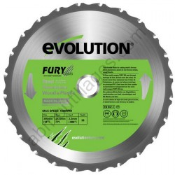 Evolution lame multi-usages FURY 355 mm