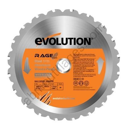 Evolution lame multi-usages RAGE 185mm